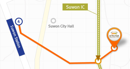 from Suwon station to KFV